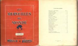 ALBUM IMAGES CHOCOLAT NESTLE & KOHLER VOLUME 3 1956 / 1957 COMPLET INSECTES ESCARGOT CHAMPIGNON - Andere