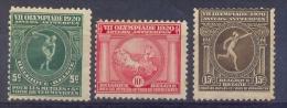 Belgie - 1920 - 21 - OBP - **  179/81 **VII Olympische Spelen Te Antwerpen - Belgium