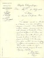 Guerre 1870/71- NICE (06) - 11 Sept.1870 - Télégramme Circulaire :  Bataillons De Ligne Italiens Arrivent à La Frontière - Historische Documenten