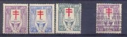 Belgie - 1925  - OBP - *  234/36 * - Spoor Van Scharnier +234 Gestempeld - Belgium