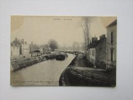 Cpa/pk Cepoy Le Canal Librairie Loiret Maume Vernédal Péniche Maisons Quai - France