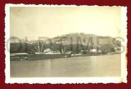 SPAIN - MALAGA - VISTA DO PORTO E CASTELO - 1940 REAL PHOTO PC - Foto