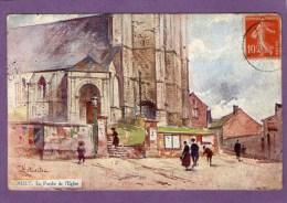 AULT - Le Porche Del'Eglise -  1907 - - Ault