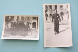 Rare 1944 > 2 PHOTO´s Document De MARSEILLE Blessé DE GUERRE HOPITAL L´ HOTEL-DIEU A PRESENT HOTEL 5* INTERCONTINENTAL - Guerre, Militaire
