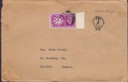 Great Britain STOCKPORT 1949? Cover Brief HELLERUP Denmark UPU Weltpostverein Stamp T-Cancel TAXE (2 Scans) - 1902-1951 (Rois)