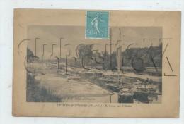 Le Lion-d'Angers (49)  : Le Quai De Chargement Des Pierres De Construction Avec Bateaux Sur L'Oudon En 1927 (animé) PF. - Altri Comuni