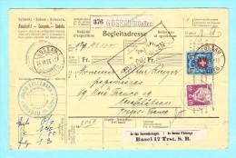 Bulletin D´ Exposition SUISSE 376 Gossau (Gallen) Du 24/09/1926 Très Beaux Document - Chemins De Fer