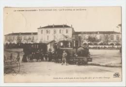 26 Dép.- La Drome Illustrée - Taulignan (18) - Le Tramway Et Les Ecoles -  Carte Postale Ayant Voyagé En 1914, Dos Sépar - Autres Communes