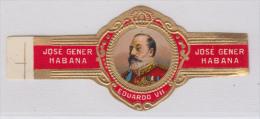 TAB-6 CUBA SPAIN ESPAÑA. TOBACCO. ANILLA DE TABACO. FABRICA JOSE GENER. EDUARDO VII. - Cigar Bands