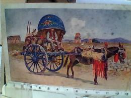ROMA COSTUMI ROMANI CARRO A VINO CARRETTI CAVALLI   VB1934 EV164 MACCHIOLINE - Transportmiddelen