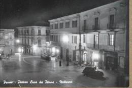 PENNE -PIAZZA LUCA DA PENNE -NOTTURNO -1956 - Pescara