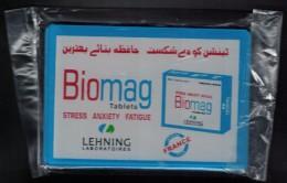 Pakistan Plaque Publicitaire Plastique Homéopathie Rexorubia Et Biomag - Advertising (Porcelain) Signs