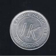 CONGO  -  1 Likuta 1967  KM8 - Congo (República Democrática 1964-70)