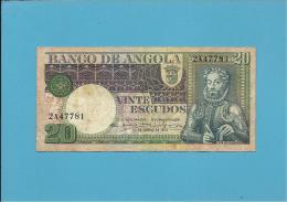 ANGOLA - 20 ESCUDOS - 10.06.1973 - P 104 - Luis De Camões - PORTUGAL - Angola