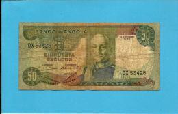 ANGOLA - 50 ESCUDOS - 24.11.1972 - P 100 - MARECHAL CARMONA - PORTUGAL - Angola