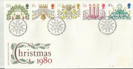 GB FDC  1980 Christmas - 1971-1980 Dezimalausgaben