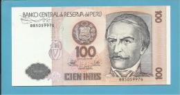 PERU - 100 INTIS - 26.06.1987 - Pick 133 - UNC. - RAMON CASTILLA - 2 Scans - Perú