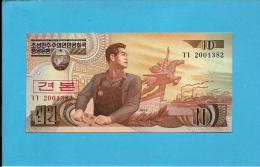 KOREA, NORTH - 10 WON - 1998 - P 41.s - UNC. - SPECIMEN - 2001382 - 2 Scans - Korea, North