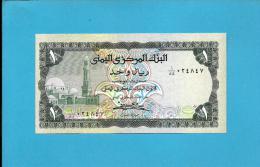 YEMEN ARAB REPUBLIC - 1 RIAL -  ND ( 1983 ) - P 16 B-  Sign. 7 - UNC. - Central Bank Of Yemen - 2 Scans - Yemen