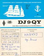 """QSL-Karte Reichenau """"Vereinigung Noch Funkender Ehemaliger Marinefunker"""" Gorch Fock Card Funkkarte Funkerkarte Radio - QSL-Karten"""