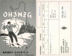QSL-Karte Finnland Tampere OH3NZG 1990-Langläufer Kalevi Laurila Suomi Finland Radio Card Äijänahteentie Funkkarte - QSL-Karten