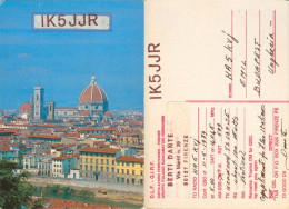 QSL-Karte Italien Firenze Florenz Florence IK5JJR 1989 D.L.F. G.I.R.F DLF GIRF Radio Card Carte Cartolina Funkkarte - QSL-Karten