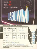 QSL-Karte Sowjetunion Kemerowo Kemerovo Sibirien Siberia 1989 UdSSR USSR Amateur Radio Card Soviet Union Funkkarte - QSL-Karten