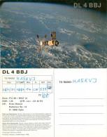 QSL-Karte Deutschland Syke DL4BBJ Satellit Optik Oberkochen Skylab Raumstation ITU 28 WAZ 14 Amateur Radio Card Germany - QSL-Karten
