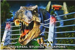 Jurassic Park Dinosaur Universal Studios Singapore - Plakate Auf Karten