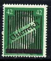 Hitler Head 42Pf  Overprinted «Österreich» And Defaced  MH  MIchel 673II  Signed - Ungebraucht