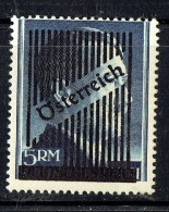 Hitler Head  5 RM  Overprinted «Österreich» And Defaced  MH  MIchel 696 IIB MH Signed - Ungebraucht