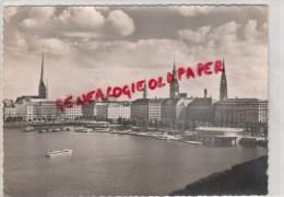 ALLEMAGNE - HAMBOURG - JUNGFERNSTIEG UND BINNENALSTER   1963 - Ohne Zuordnung