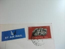 STORIA POSTALE FRANCOBOLLO COMMEMORATIVO CIPRO AIR MAIL CYPRUS 72 VEDUTINE - Cipro