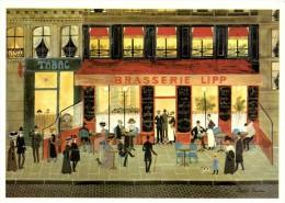 Naifs Et Primitifs Rodolphe Rousseau LA BRASSERIE LIPP  Recto Verso - Restaurants