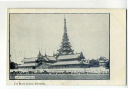 DE567-1909?? AK MANDALAY - Königlicher Palast-Echte Aufnahme-S/W-Ungel - Myanmar (Burma)