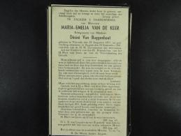 Maria Van De Keer épse Van Buggenhout Vlierzele 1871 Aygem 1941 /31/ - Devotion Images