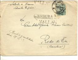 CARTA CENSURA VALLADOLID  1938 - Marcas De Censura Nacional