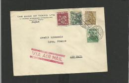 Enveloppe Japon Pour La France Par Avion - Storia Postale