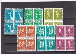 Luxemburgo Nº 718 Al 721 En Bloque De Cuatro - Unused Stamps