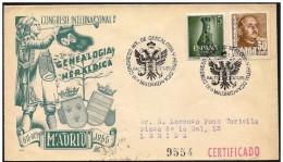 Spagna/Spain/Espagne. Registered, Recommandé. Genealogia Araldica, Genealogy Heraldry, Héraldique Généalogie - Sobres