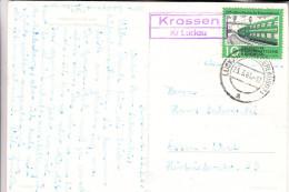 0-7961 DRAHNSDORF - KROSSEN, Postgeschichte, Landpoststempel Krossen Kr. Luckau, 1961 - Golssen