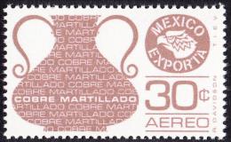 Timbre Du Mexique, 1975 & 76    '   YT 405A   Neuf **   '  30 C. Cuivre Martelé - Mexique
