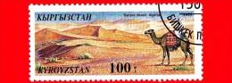 Kyrgyzistan - Usato - 1995 - Meraviglie Naturali Del Mondo - Cammelli - Deserto Sahara - 100 - Kirghizstan