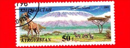 Kyrgyzistan - Usato - 1995 - Meraviglie Naturali Del Mondo - Giraffe - Kilimanjaro - 50 - Kirghizstan