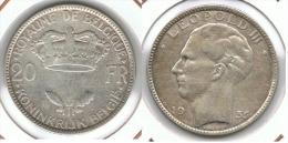 BELGICA 20 FRANCS 1935 PLATA SILVER D67 - 07. 20 Francos