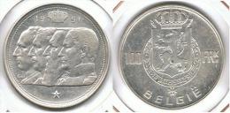 BELGICA 100 FRANCS 1951 PLATA SILVER DINASTIA D69 - 06. 100 Francos