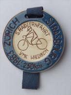 Rare M�daille SUISSE -    5. RADFERNFAHRT VMC WIEDKON  1983 250KM ZURICH STRASBOURG