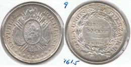 BOLIVIA MEDIO BOLIVIANO 1899 PLATA SILVER D70 - Bolivia