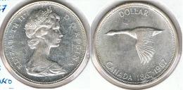 CANADA DOLLAR GANSO 1967 PLATA SILVER D71 - Canada