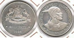 LESOTHO 50 LICENTE 1966 PLATA SILVER - Lesotho